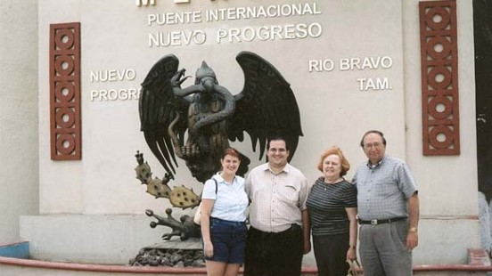 Picture in front of Nuevo Progresso, Mexico sign 4/16/05